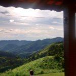 Meditando frente varanda Espaço Presença